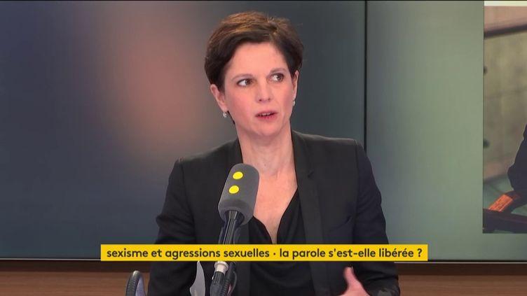 Sandrine Rousseau est notamment revenue sur les sujets des violences faites aux femmes, des glyphosates, et de la pollution atmosphérique. (FRANCEINFO)