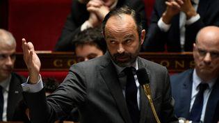 Le Premier ministre Edouard Philippe lors des questions au gouvernement à l'Assemblée nationale, le 18 décembre 2018. (LIONEL BONAVENTURE / AFP)