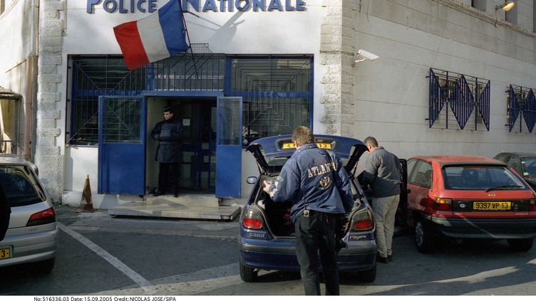 Le commissariat du 3e arrondissement de Marseille, siège de la BAC Nord de la ville, le 15 septembre 2005. (NICOLAS JOSE / SIPA)