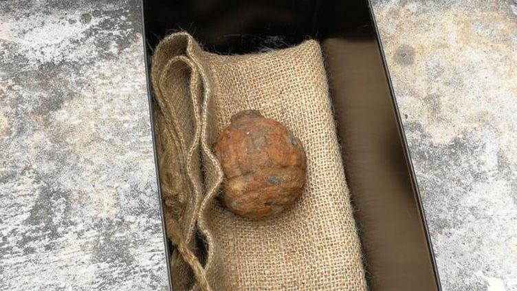 Une grenade allemande retrouvée à Hong-Kong dans une cargaison de pommes de terre françaises, le 2 février 2019. (HONG KONG POLICE FORCE)