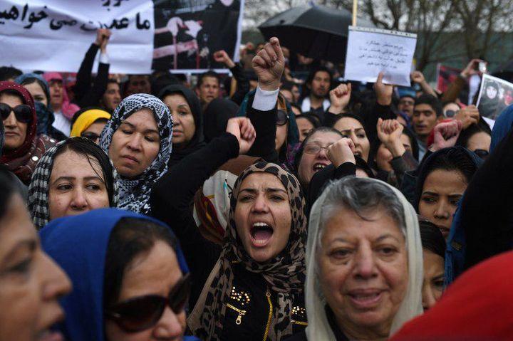 Colère des manifestants contre les autorités (Shah Marai/AFP)