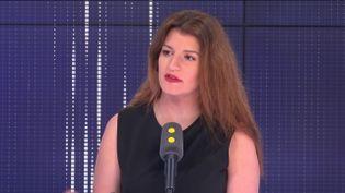 """Marlène Schiappa,secrétaire d'État chargée de l'Égalité entre les femmes et les hommes, invitée du """"8h30 Fauvelle-Dély"""", lundi 1er juillet 2019. (FRANCEINFO / RADIOFRANCE)"""