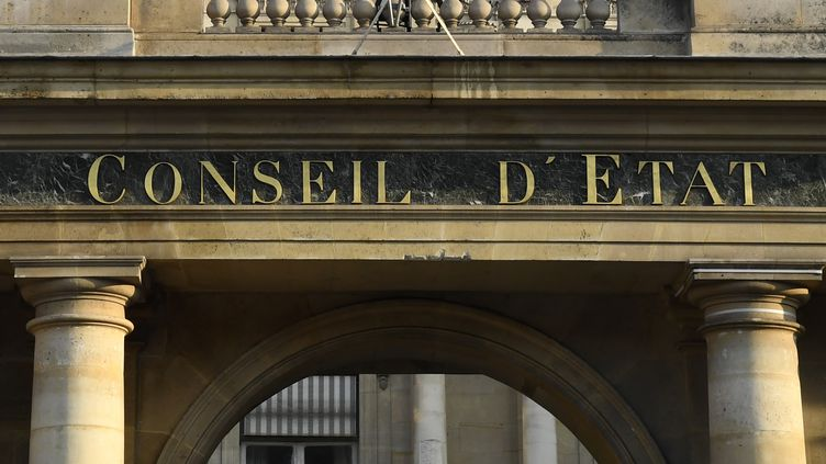 Le fronton du Conseil d'Etat, à Paris, le 28 octobre 2018. (BERTRAND GUAY / AFP)