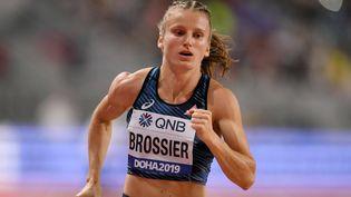 Amandine Brossier lors des championnats du monde d'athlétisme à Doha le 5 octobre 2019. (PHILIPPE MILLEREAU / KMSP)