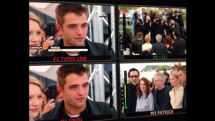 """Les coulisses du photocall de l'équipe du film """"Maps to the Stars"""".  (Tv Festival de Cannes)"""