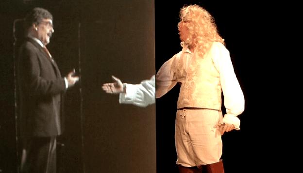 Théâtre, cabaret et effets vidéos  (France 3)