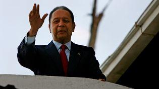 L'ex-dictateur haïtien Jean-Claude Duvalier, le 21 janvier 2011 à Port-au-Prince. (HECTOR RETAMAL / AFP)
