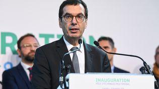 Jean-Pierre Farandou à Chamberry (Savoie), le 8 novembre 2019. (JEAN-PIERRE CLATOT / AFP)