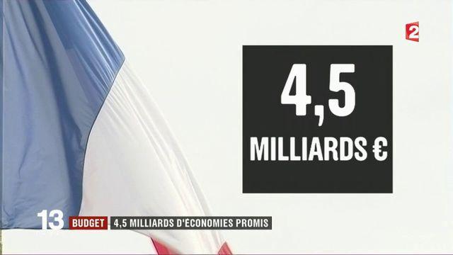 Budget : Bercy annonce 4,5 milliards d'euros d'économies d'ici fin 2017