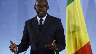 Le ministre malien des Affaires étrangères, Abdoulaye Diop, à Berlin, le 15 octobre 2015. (TOBIAS SCHWARZ / AFP)