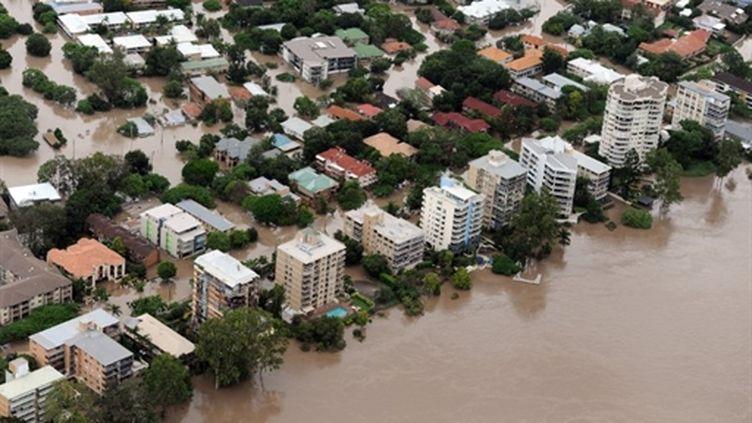 Brisbane (Australie) inondée le 13 janvier 2011 (AFP. T.Blackwood)