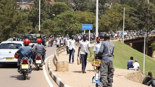 Une vue de Kigali, la capitale rwandaise, à la veille de la visite d'Emmanuel Macron, le 26 mai 2021 (LUDOVIC MARIN / AFP)