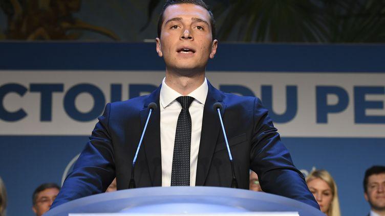 Jordan Bardella, le soir de l'annonce des résultats des élections européennes,le 26 mai 2019. (BERTRAND GUAY / AFP)