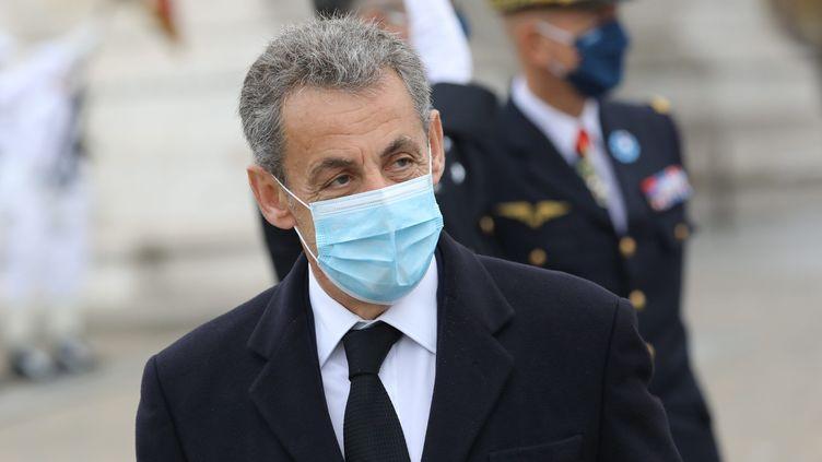 Nicolas Sarkozy, 11 novembre 2020. (ARNAUD JOURNOIS / MAXPPP)