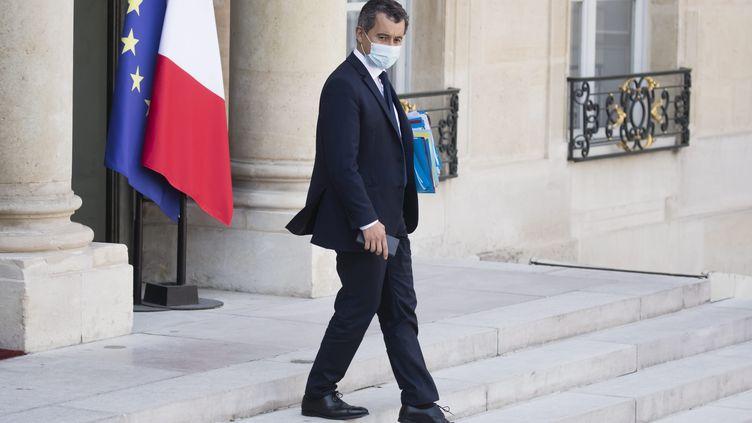 Gérald Darmanin à l'Elysée le 16 septembre 2020. (VINCENT ISORE / MAXPPP)