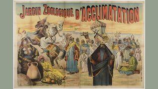 Caravane égyptienne, Jardin zoologique d'acclimatation de Paris, 1891, affiche d'Henri Sicard et Farradesche  (© Groupe de recherche Achac, Paris / coll. part / DR)