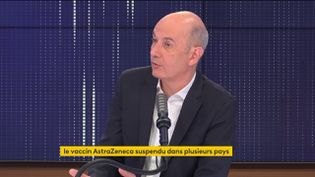 Roland Lescure, député des Français d'Amérique, porte-parole de LREM et président de la commission des affaires économiques de l'Assemblée sur franceinfo le 13 mars 2021. (FRANCEINFO / RADIOFRANCE)