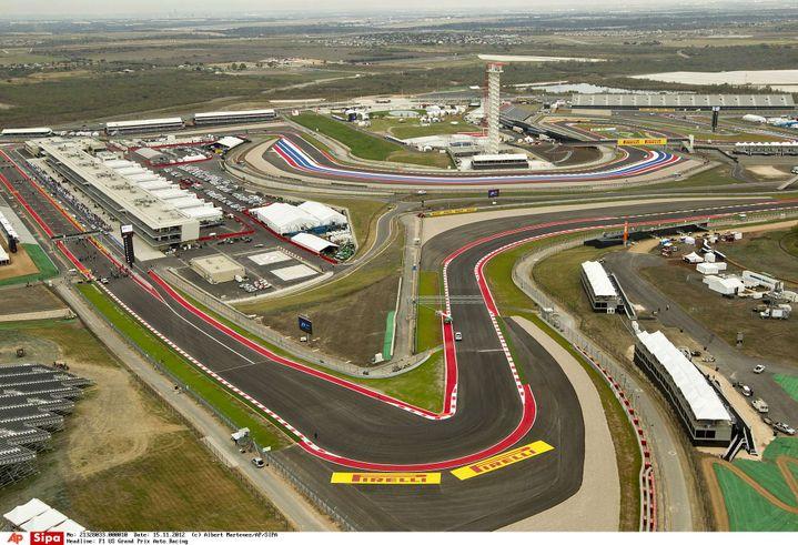 Vue aérienne du circuit des Amériques, à Austin (Texas), le 15 novembre 2012. (ALBERT MARTENEZ / SIPA)