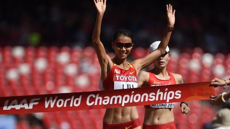 La Chinoise Liu Hong victorieuse du 20km marche (OLIVIER MORIN / AFP)