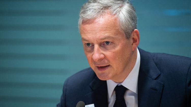 Bruno Le Maire, le ministre de l'Economie, le 12 avril 2019. (SAUL LOEB / AFP)