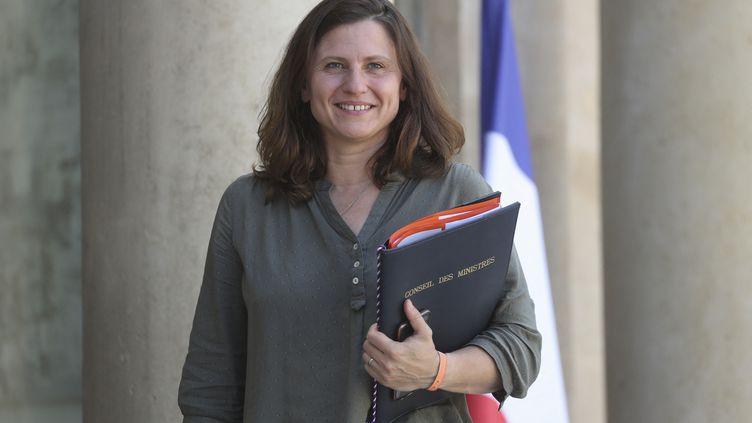 La ministredéléguée aux Sports,Roxana Maracineanu, le 7 juillet 2020. (LUDOVIC MARIN / AFP)