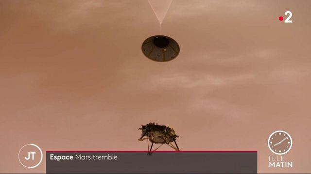 Des centaines de tremblements enregistrés sur Mars
