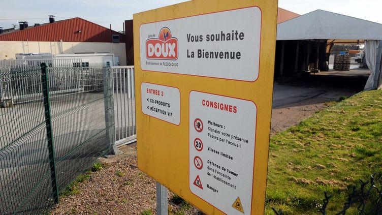 Une usine du groupe Doux, à Pleucadeuc (Morbihan), le 17 avril 2013. (FRED TANNEAU / AFP)