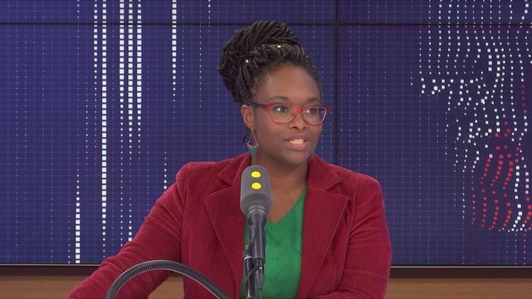 Sibeth Ndiaye, porte-parole du gouvernement, était l'invitée de franceinfo lundi 2 mars 2020. (FRANCEINFO / RADIOFRANCE)