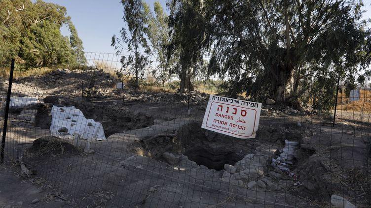 Le site de fouilles où a été découvert l'emplacement probable de Bethsaïda. (MENAHEM KAHANA / AFP)