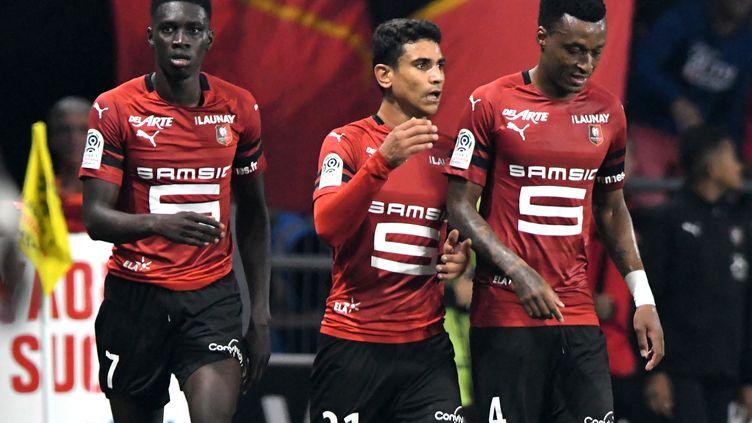Sarr, André et Mexer auront fort à faire pour vaincre Nantes dimanche. (JEAN-FRANCOIS MONIER / AFP)