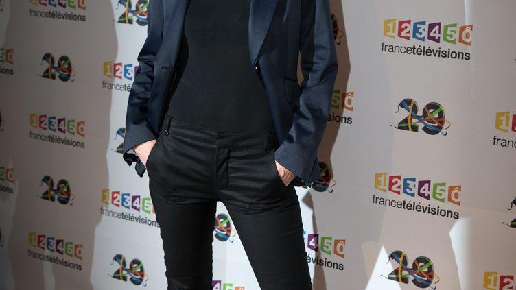 La journalisteVanessa Burggraflors de la présentation de la grille de rentrée 2017 du groupe France Télévisions, le 29 juin 2016. (MAXPPP)