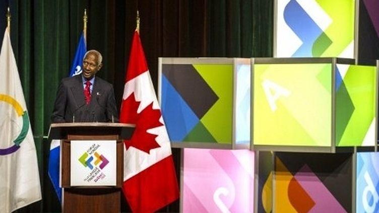 Abdou Diouf, le secrétaire général de la Francohonie a plaidé pour la cause de la langue française. (Rogerio Barbosa / AFP)