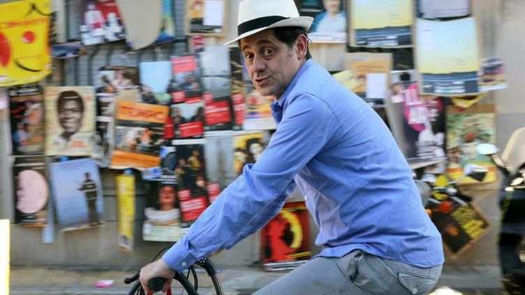 Olivier Py dans les rues d'Avignon (2014)  (Angélique Rinel/photoPQR)
