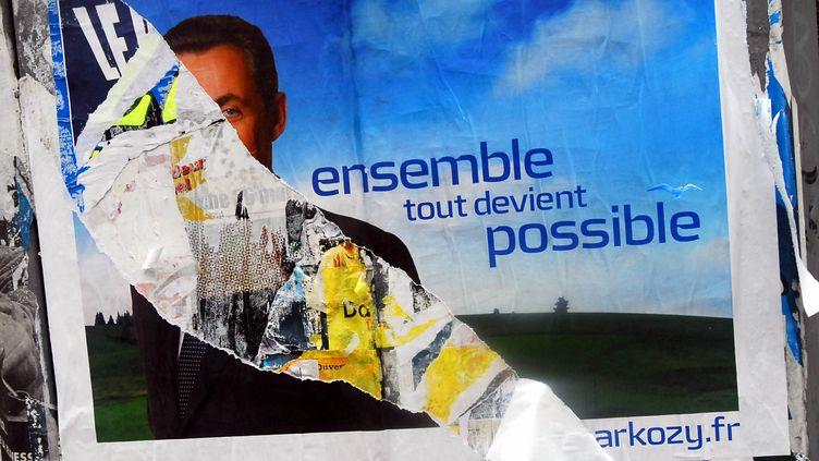 """En 2007, """"Ensemble tout devient possible"""" était l'un des principaux slogans de la campagne de Nicolas Sarkozy. (PHOTOPQR / LA NOUVELLE REPUBLIQUE / Maxppp)"""