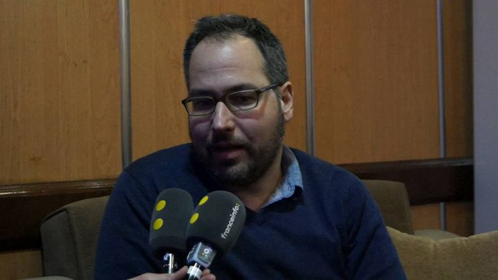 Nadim Houry,responsable des questions liées à la lutte anti-terroristepour Human Rights Watch, en janvier 2018. (ÉRIC AUDRA / FRANCEINFO)
