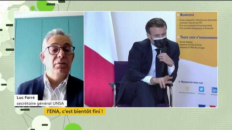 Luc Farré, secrétaire général de l'Unsa-FOnction publique, invité de franceinfo, le 8 avril 2021. (FRANCEINFO)