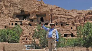 Zemaryalai Tarzi, archéologue français, dirige les fouilles à Bamiyian  (MASSOUD HOSSAINI / AFP)