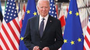 Le président américain Joe Biden à Bruxelles, le 15 juin 2021. (KENZO TRIBOUILLARD / AFP)