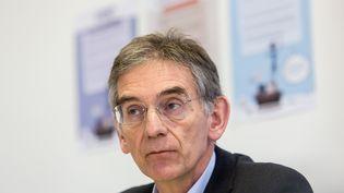 Claude Leicher, président du syndicat MG France (Médecins Généralistes), lors d'une conférence de presse, à Paris, le 27 janvier 2016. (GARO / PHANIE)