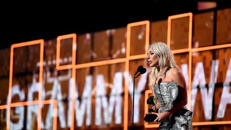 Lady Gaga sur la scène des Grammy Awards, le 10 février 2019, à Los Angeles. (AFP)