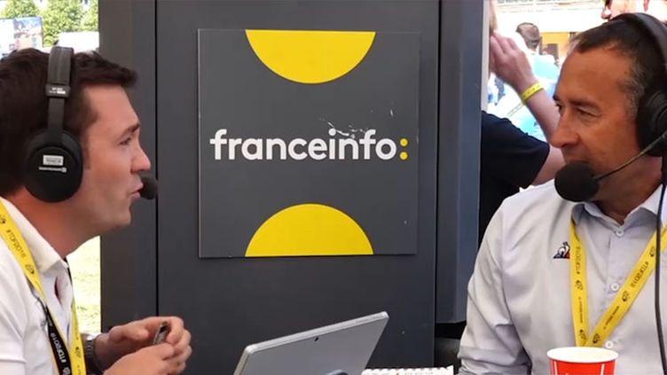 Le directeur de course sur la traversée du plateau des Glières, Thierry Gouvenou, invité des Informés du Tour, sur franceinfo. (FRANCEINFO)