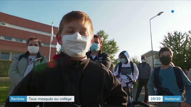 Rentrée scolaire : les collégiens tous masqués