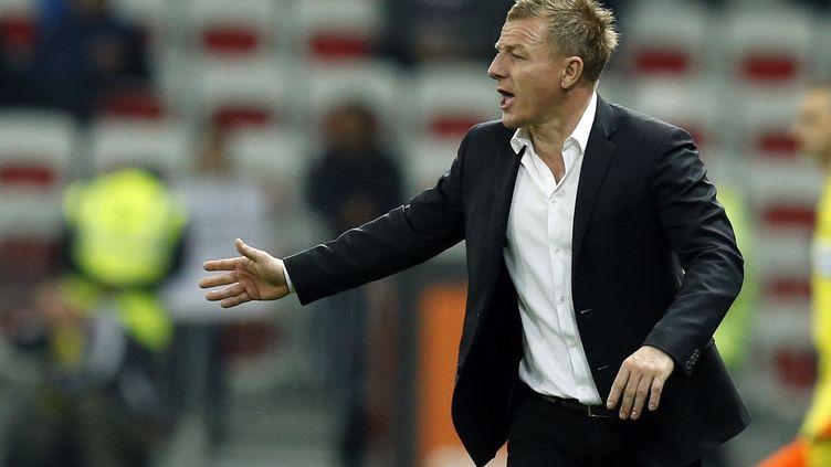 Olivier Guégan n'est plus entraîneur du Stade de Reims (VALERY HACHE / AFP)