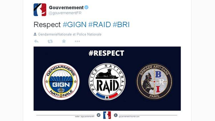 (Gouvernement, hommes politiques, personnalités et anonymes ont tous salué les forces de l'ordre. © Capture d'écran Twitter)