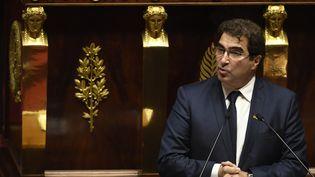 Le président du groupe des députés Les Républicains, Christian Jacob, le 22 janvier 2018 à l'Assemblée nationale à Paris. (ERIC FEFERBERG / AFP)