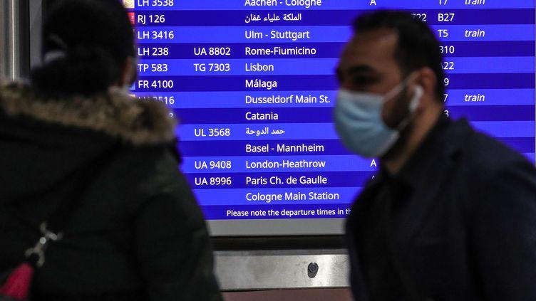 Illustration d'un aéroport en Allemagne, le 21 décembre 2020. (ARMANDO BABANI / AFP)