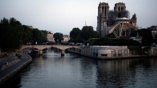 La cathédrale de Notre-Dame de Paris, le 25 juillet 2019 à Paris. (LIONEL BONAVENTURE / AFP)