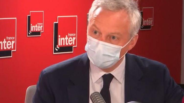 Bruno Le Maire était l'invité de France Inter vendredi 30 juillet 2021. (FRANCE INTER)