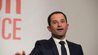 Benoît Hamon, vainqueur de la primaire de la gauche, le 29 janvier 2017. (?QUENTIN VEUILLET /WOSTOK PRESS / MAXPPP)