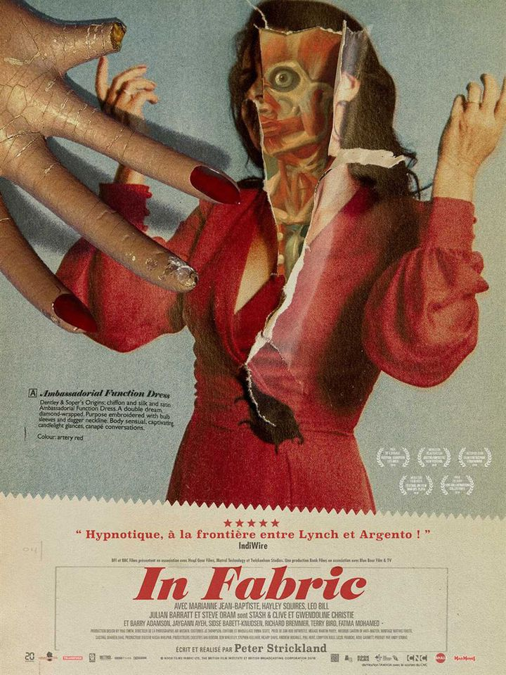 "l'affiche de ""In Fabric"" de Peter Strickland. (Tamasa Distribution)"